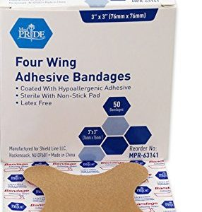 MPR-63141-Adhesive-Bandage-Fabric-3-x-3-4-Wing-Sterile